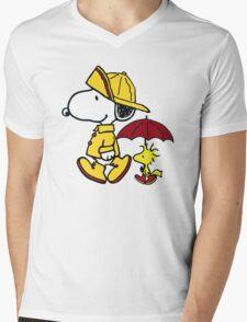 Snoopy Fun Mens V-Neck T-Shirt