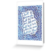 Hamlet - Doubt the stars love quote Greeting Card