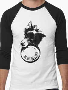 NO TAKE. ONLY THROW. (Border Collie) Men's Baseball ¾ T-Shirt