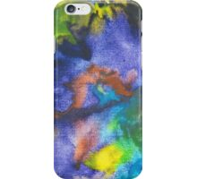 Cool Colors Tie Dye Style Crayon Art iPhone Case/Skin