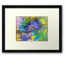 Cool Colors Tie Dye Style Crayon Art Framed Print