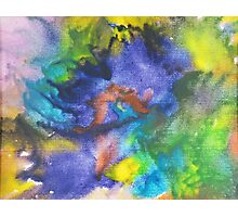 Cool Colors Tie Dye Style Crayon Art Photographic Print