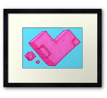 Cubic Heart Framed Print