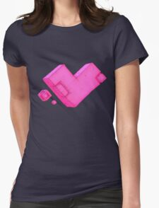 Cubic Heart Womens Fitted T-Shirt