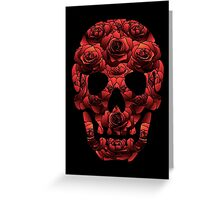 Skull and Roses Greeting Card
