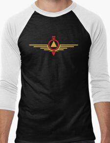 colourCaste Mix - Red/Gold Men's Baseball ¾ T-Shirt