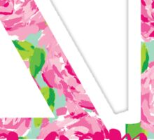 Delta Gamma Letters roses Sticker