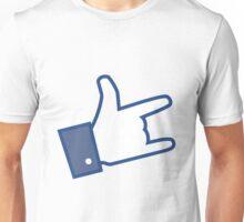 Like Facebook Rock  Unisex T-Shirt