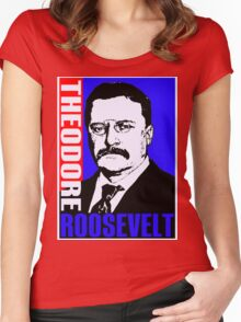 Theodore Roosevelt-Colour Women's Fitted Scoop T-Shirt