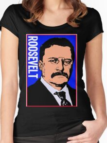 THEODORE ROOSEVELT-COLOR Women's Fitted Scoop T-Shirt