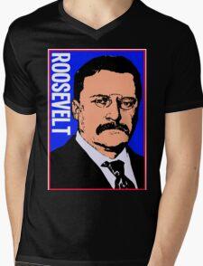 THEODORE ROOSEVELT-COLOR Mens V-Neck T-Shirt