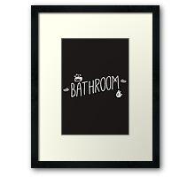 Bathroom Framed Print