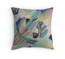 Bright abstract future space Throw Pillow