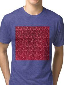 Vintage Floral Garnet Ruby Red Tri-blend T-Shirt
