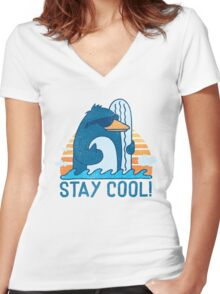 STAY COOL! Women's Fitted V-Neck T-Shirt
