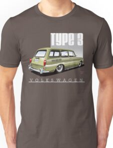 VW Squareback in Safari Beige Unisex T-Shirt