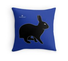 Sly Rabbit Silhouette Throw Pillow