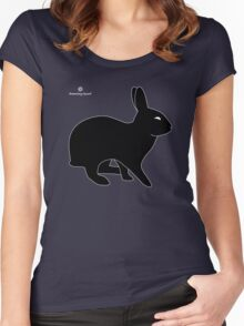 Sly Rabbit Silhouette Women's Fitted Scoop T-Shirt