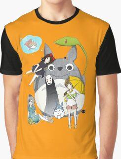 Ghibli Family Graphic T-Shirt