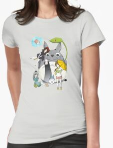 Ghibli Family Womens Fitted T-Shirt