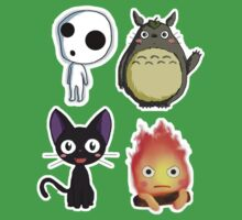Ghibli Chibi Collage One Piece - Short Sleeve