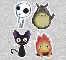 Ghibli Chibi Collage One Piece - Long Sleeve