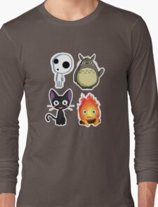 Ghibli Chibi Collage Long Sleeve T-Shirt