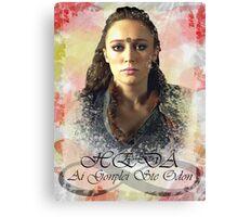 Commander Lexa Canvas Print