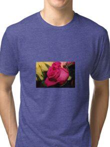 Bright Pink Rose Tri-blend T-Shirt