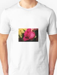 Bright Pink Rose Unisex T-Shirt