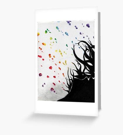 Shower's Drops Greeting Card