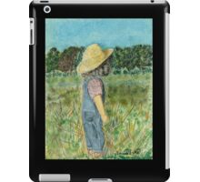 Surveying The Farm, Black Frame iPad Case/Skin