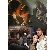 Outlander collage/Jamie and Claire Photographic Print