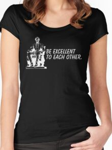 be excellent Women's Fitted Scoop T-Shirt