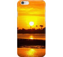 Bright gold sunset iPhone Case/Skin