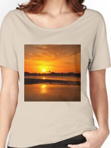 Bright gold sunset Women's Relaxed Fit T-Shirt