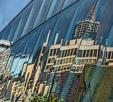 Streetscape Reflected on Surface of the AGO by Gerda Grice