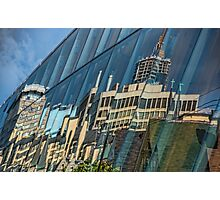 Streetscape Reflected on Surface of the AGO Photographic Print