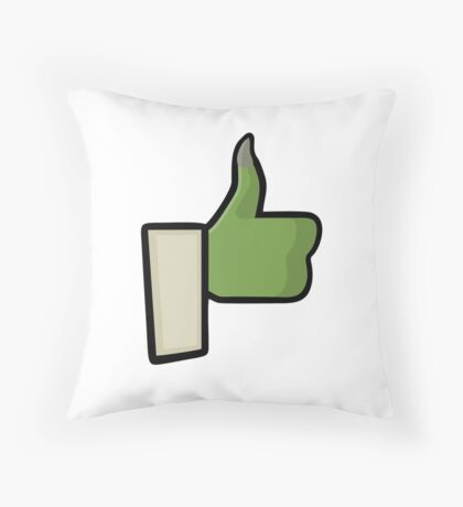 Yoda Stop Wars Like Facebook Throw Pillow