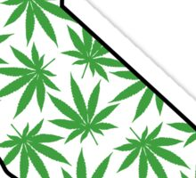 California (CA) Weed Leaf Pattern Sticker