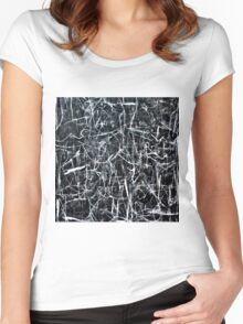 Abstract #4 Women's Fitted Scoop T-Shirt