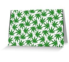 Colorado (CO) Weed Leaf Pattern Greeting Card