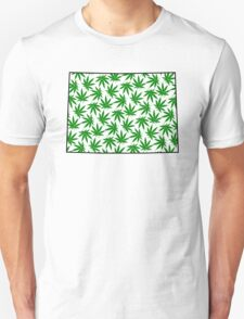 Colorado (CO) Weed Leaf Pattern Unisex T-Shirt