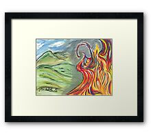 Flames of Destruction & Rebirth Framed Print