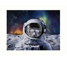 Astro Blur w/ skull - Galaxy Beyond  Art Print