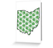 Ohio (OH) Weed Leaf Pattern Greeting Card