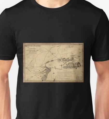 American Revolutionary War Era Maps 1750-1786 353 British camp at Trudruffrin from sic with the attack made by Major General Grey against the rebels near Unisex T-Shirt