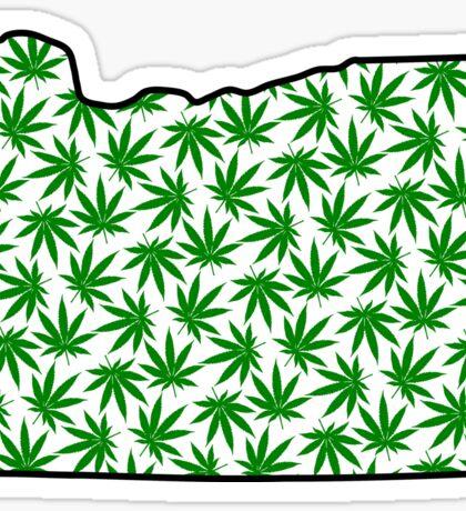 Oregon (OR) Weed Leaf Pattern Sticker