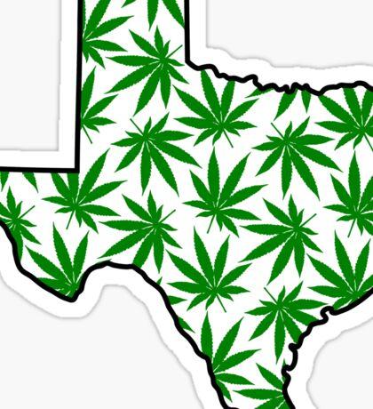Texas (TX) Weed Leaf Pattern Sticker