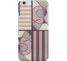 Seamless texture patchwork color cocoa iPhone Case/Skin